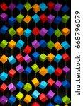 colorful box wallpaper pattern... | Shutterstock . vector #668796079
