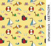color light pattern of... | Shutterstock .eps vector #668796394