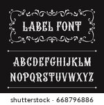 hand drawn label font for... | Shutterstock .eps vector #668796886