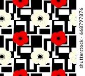 cute seamless vector pattern...   Shutterstock .eps vector #668797876