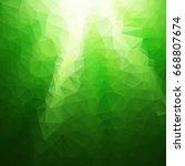 green polygonal mosaic... | Shutterstock .eps vector #668807674