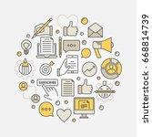 colorful blogging illustration  ... | Shutterstock .eps vector #668814739