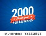 2000 followers card for... | Shutterstock .eps vector #668818516