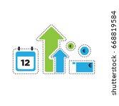 time is money vector... | Shutterstock .eps vector #668819584