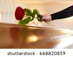 people and mourning concept  ... | Shutterstock . vector #668820859