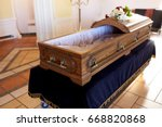 funeral and mourning concept  ... | Shutterstock . vector #668820868