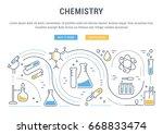 flat line illustration of... | Shutterstock . vector #668833474