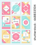 elegant modern flyers and cards ... | Shutterstock . vector #668833504