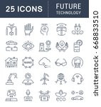 set of line icons in flat... | Shutterstock . vector #668833510