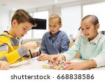 education  children  technology ... | Shutterstock . vector #668838586
