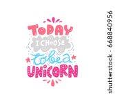unique handdrawn lettering... | Shutterstock .eps vector #668840956