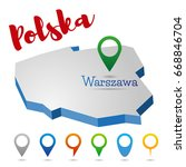 poland outline map  warszawa ...   Shutterstock .eps vector #668846704