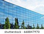 modern building.modern office... | Shutterstock . vector #668847970