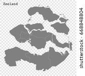 high quality map of zeeland is... | Shutterstock .eps vector #668848804
