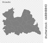 high quality map of utrecht is... | Shutterstock .eps vector #668848843