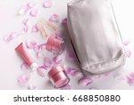 blank cosmetic tubes on white... | Shutterstock . vector #668850880