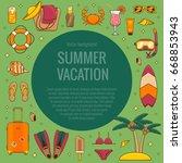 summer vacation beach icon...   Shutterstock .eps vector #668853943