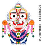 lord balabhadra colorful... | Shutterstock .eps vector #668856808