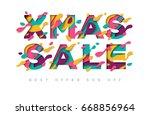 xmas sale typography design...   Shutterstock .eps vector #668856964