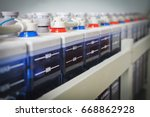 accumulator battery of electric ... | Shutterstock . vector #668862928