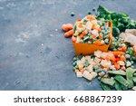 Frozen Vegetables. Frozen...