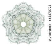 guilloche elements for... | Shutterstock .eps vector #668870728