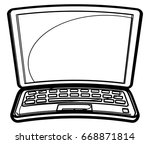 laptop   kid style  ... | Shutterstock .eps vector #668871814