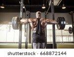 muscular black african american ... | Shutterstock . vector #668872144