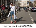 paris march 4  2015. street... | Shutterstock . vector #668886784