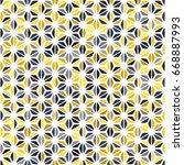 yellow grey navy blue mustard... | Shutterstock .eps vector #668887993