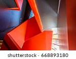 stairs. top view of modern... | Shutterstock . vector #668893180