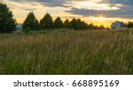 Beautiful Sunset Over A Field...