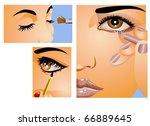 make  up | Shutterstock .eps vector #66889645