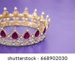a king or queen's golden crown | Shutterstock . vector #668902030