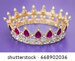 a king or queen's golden crown | Shutterstock . vector #668902036