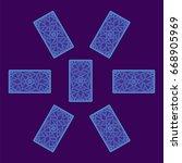 tarot card spread. reverse side....   Shutterstock .eps vector #668905969