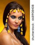 portrait of seductive woman in... | Shutterstock . vector #668908408
