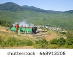 geothermal power station near... | Shutterstock . vector #668913208