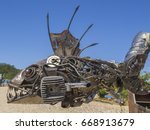 Metal Sculpture Of Fish Made O...