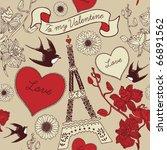 vector illustration of kissing... | Shutterstock .eps vector #66891562