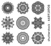 mandala. floral ethnic abstract ... | Shutterstock .eps vector #668918908