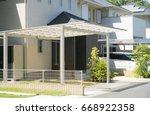 residential car port | Shutterstock . vector #668922358