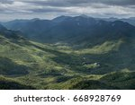 keene valley and adirondack... | Shutterstock . vector #668928769