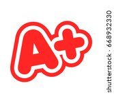 a  grade text graphic | Shutterstock .eps vector #668932330