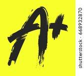 a  grade text graphic | Shutterstock .eps vector #668932870