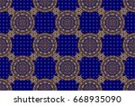 seamless abstract pattern with... | Shutterstock . vector #668935090