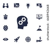 set of 13 strategy icons set... | Shutterstock .eps vector #668942668