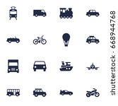 set of 16 traffic icons set... | Shutterstock .eps vector #668944768