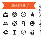 set of 12 editable network...