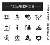 set of 12 editable sport icons. ...